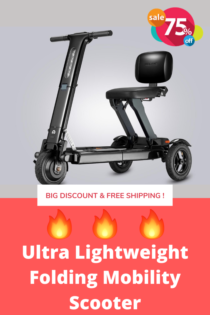 Discount Today Ultra Lightweight Folding Mobility Scooter Free