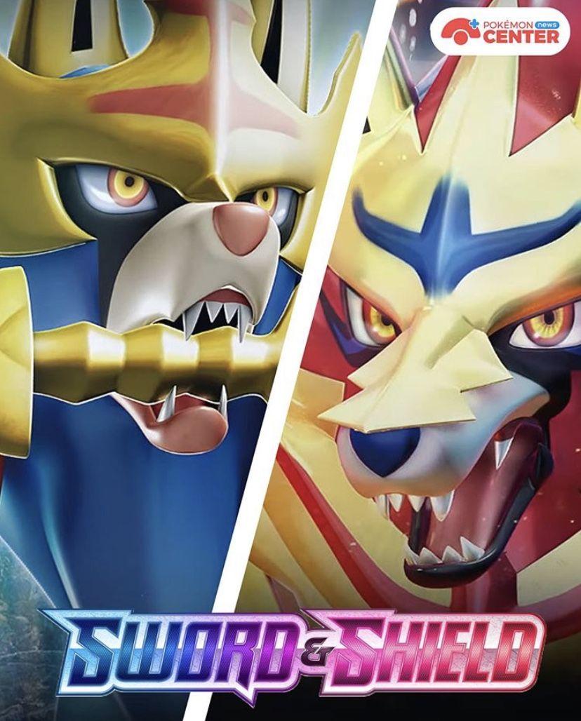 Zamazenta Crowned Shield Form Zacian Crowned Sword Form Legendary Pokemon Sword Pokemon Wallpaper Outdoor Decor