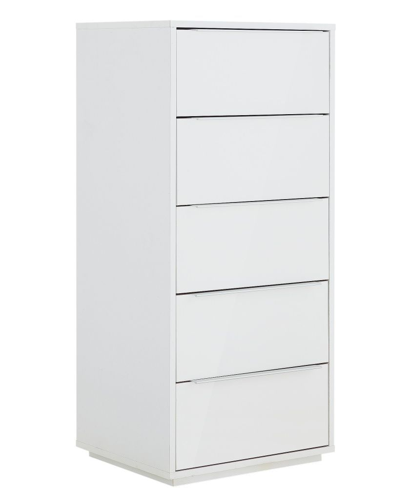 buy hygena bergen 5 drawer chest white gloss at. Black Bedroom Furniture Sets. Home Design Ideas