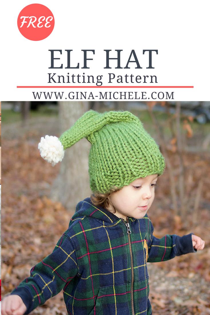Free knitting pattern for this Elf Hat. Toddler-large child sizes ...