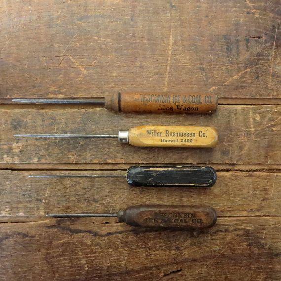 Wooden Handle Ice Pick