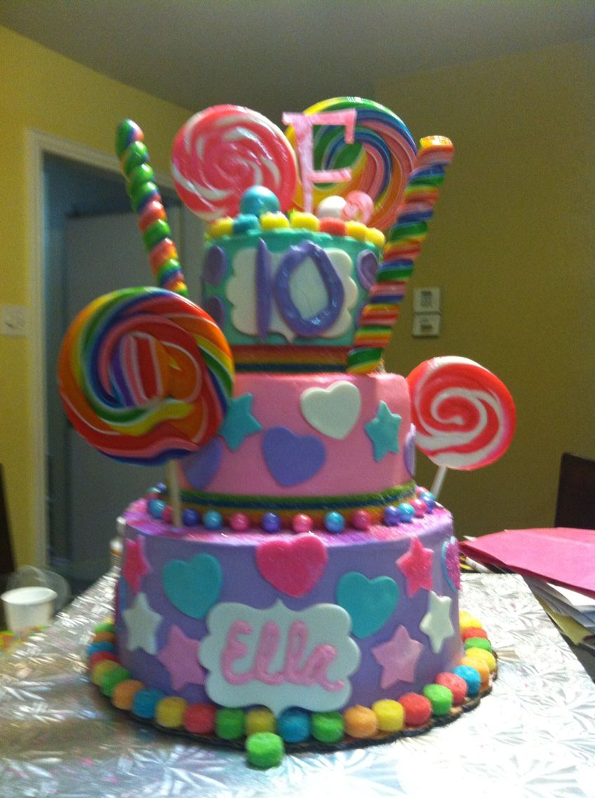 CandylandKaty Perry Themed birthday cake Ella designed this one