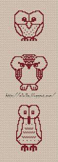 Free cross stitch owl patterns