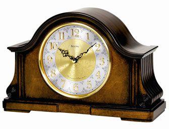 Bulova B1975 Chadbourne Ii Chiming Mantel Clock Mantel Clock Bulova Clock Clock