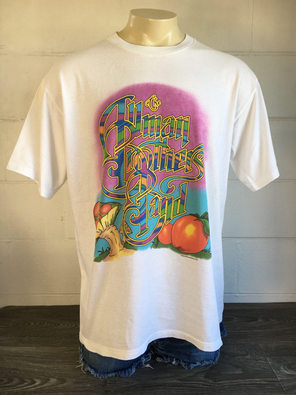 bca2b91b14228 Allman Brothers Band Shirt 1996 Vintage 90s Give Peach A Chance Jam ...