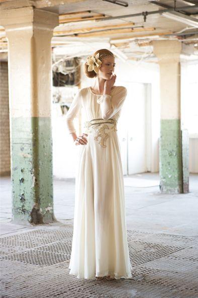 Audrey - 1940s Long Sleeved Vintage Inspired Wedding Dress ...
