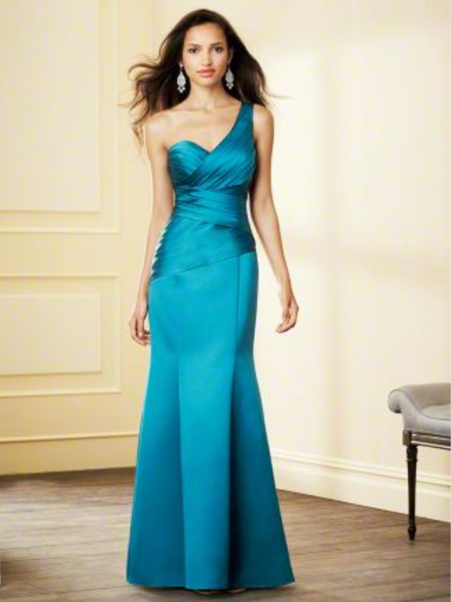 Alfred Angelo Bridesmaid Dress | Teal, Gold, Turquoise and Purple ...
