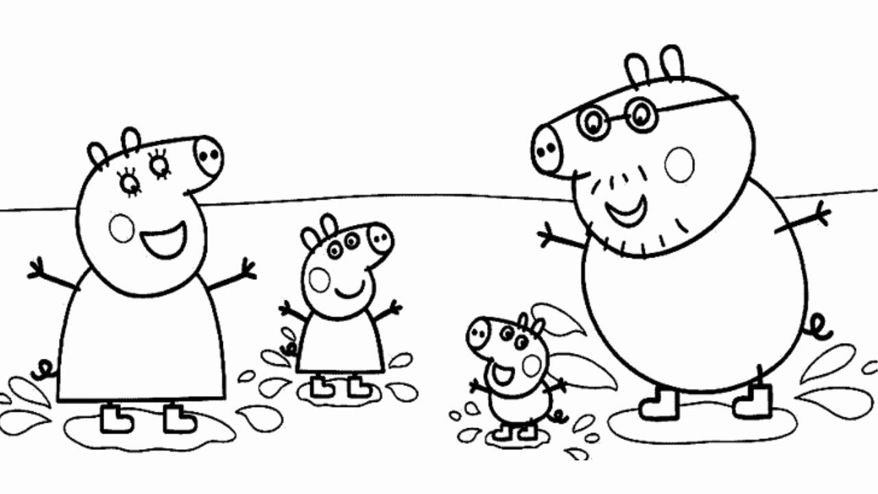 Peppa Pig Coloring Book Luxury Peppa Pig Muddy Puddles Jumping Coloring Book Video Pages In 2020 Peppa Pig Coloring Pages Peppa Pig Colouring Coloring Books
