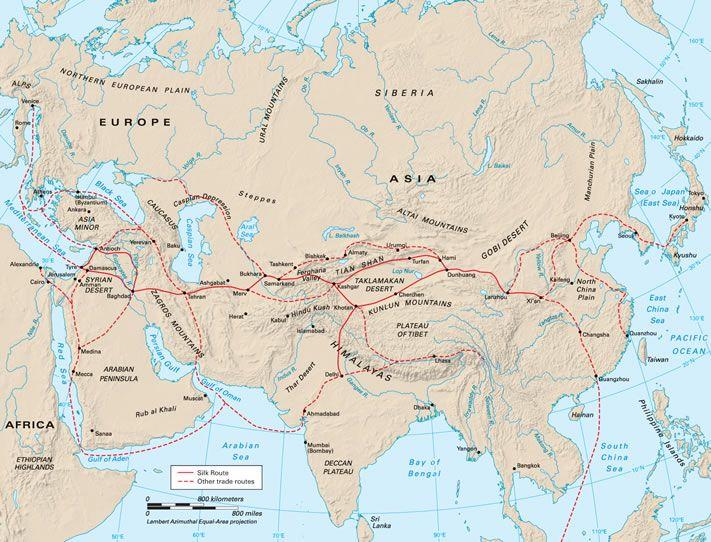 Samarkand Map Asia