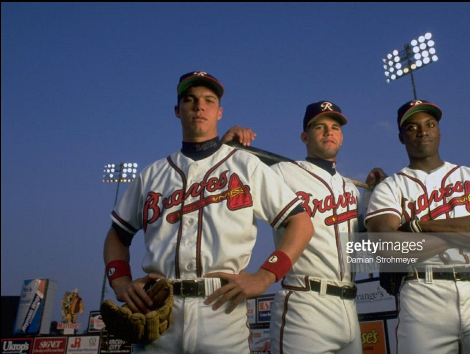 Chipper Jones Javy Lopez And Mike Kelly With The Richmond Braves Chipper Jones Braves Sports Jersey