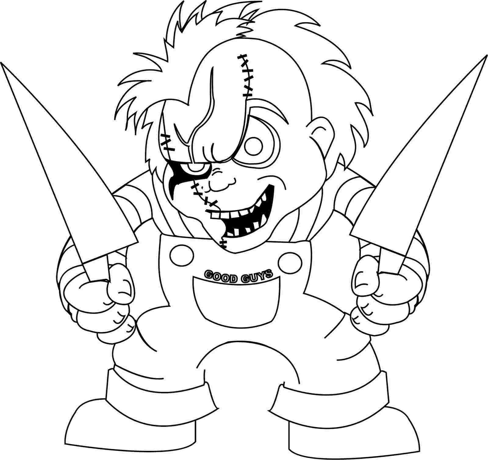 Coloring Festival Chucky Coloring Pages To Print More Than 100