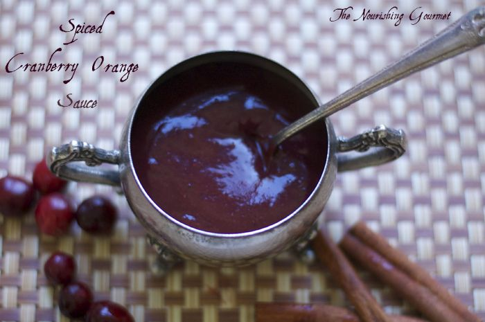 Spiced cranberry orange sauce