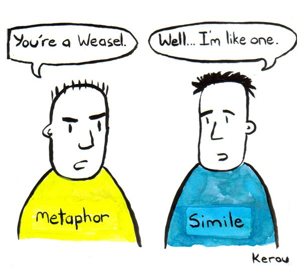 Comic Difference Between Simile And Metaphor Similes And