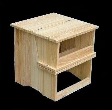 Banquito escalera plegable de madera bancos plegables for Silla escalera de madera