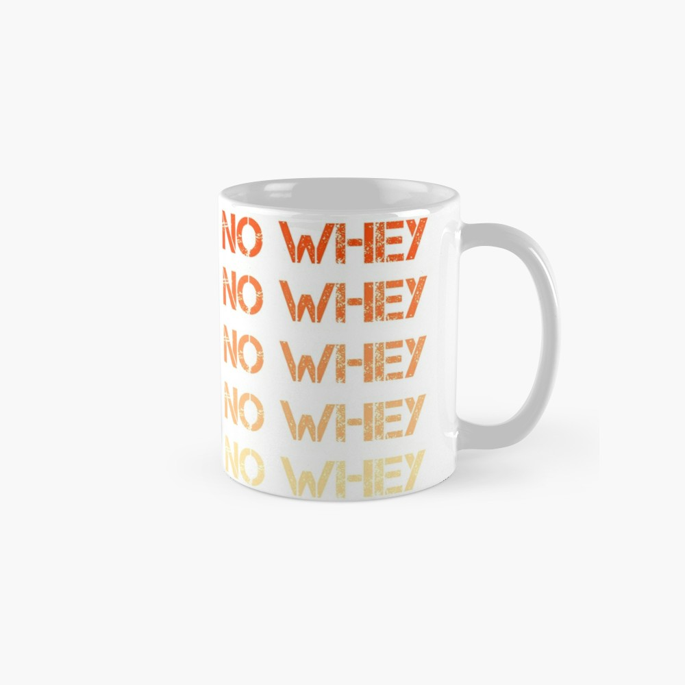 'No Whey - Vegan Humor Fading Orange' Mug by madtoyman #veganhumor No Whey - Vegan Humor Fading Orange Mug by madtoyman | Redbubble #veganhumor