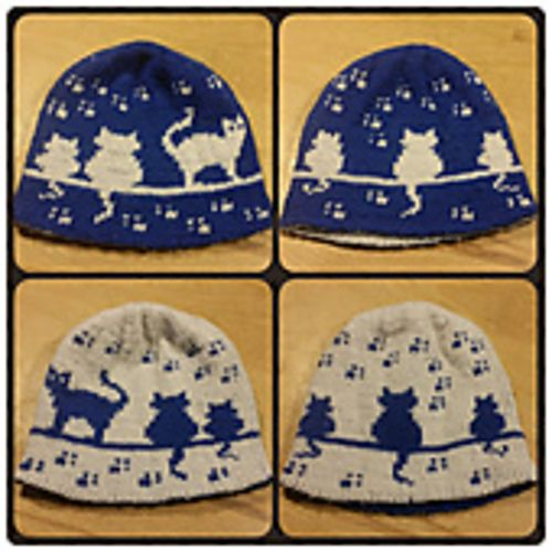 Herding Cats Double Knit Hat Pattern By Karen Buhr Knitted Hat