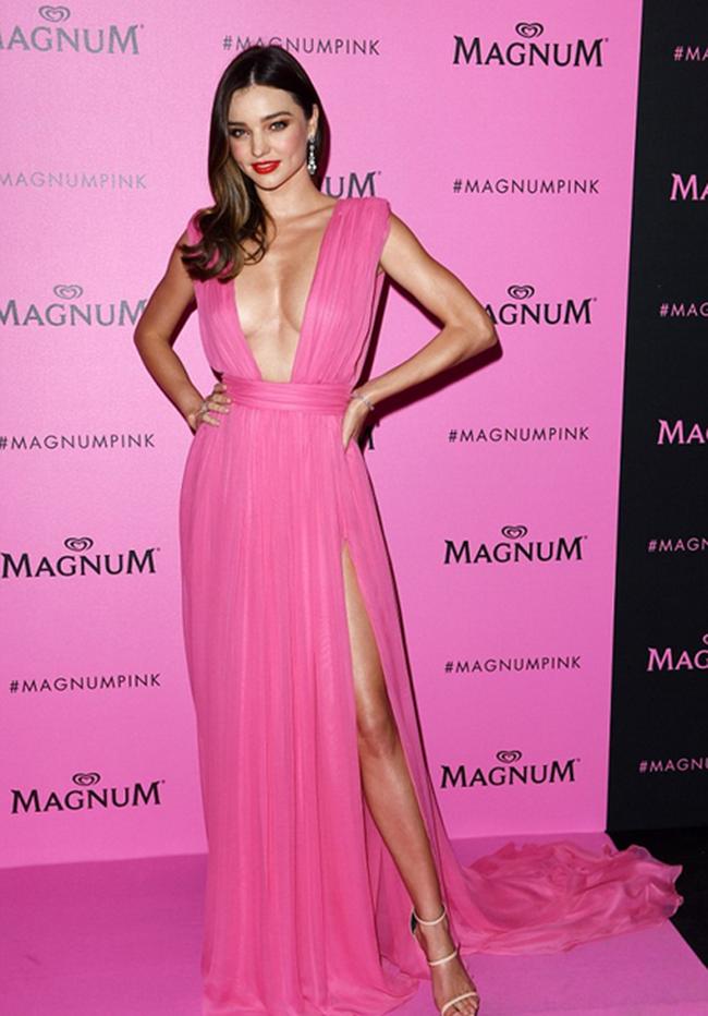 Cómo ir de rosa y ser la más sexy de Cannes, Miranda Kerr lo ...