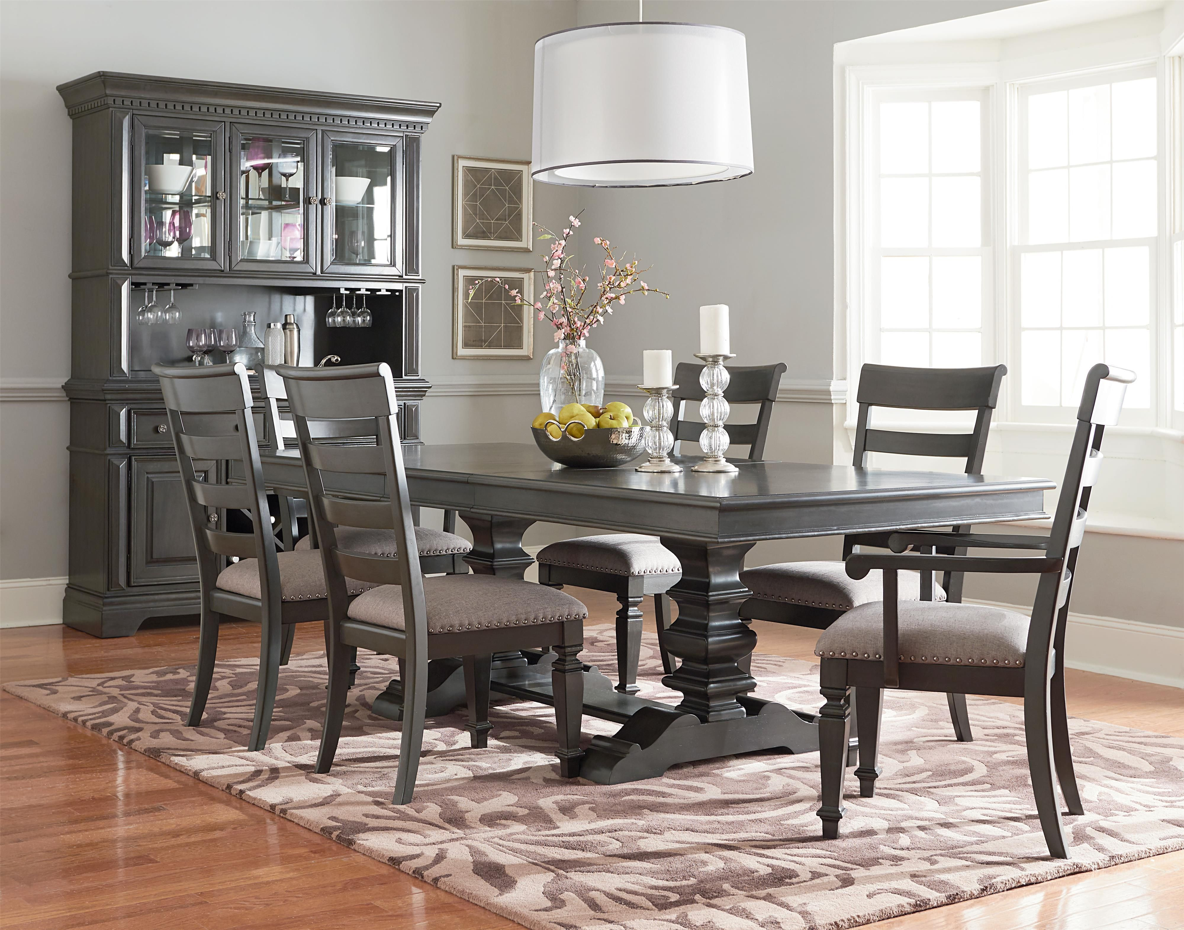 Dining Room Group With Trestle Table Standard Furniture Wolf Dining Room Sets Dining Room Table Trestle Dining Tables