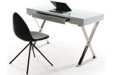Bureau bureau blanc laqué deco design bureaux