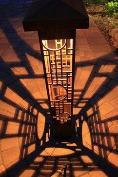 frank lloyd wright outdoor lighting. Bollards - Contemporary Outdoor Lighting Indianapolis Lite4 Frank Lloyd Wright H