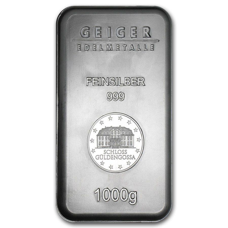 1 Kilo Silver Bar Geiger Security Series 1000 Gram 1 23 Kilo 32 15 Oz Silver Bars Apmex Silver Bars Silver Bullion Silver