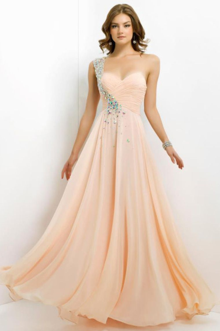 Buy 2014 New Arrival Prom Dress Plus Size A Line One Shoulder Floor ...