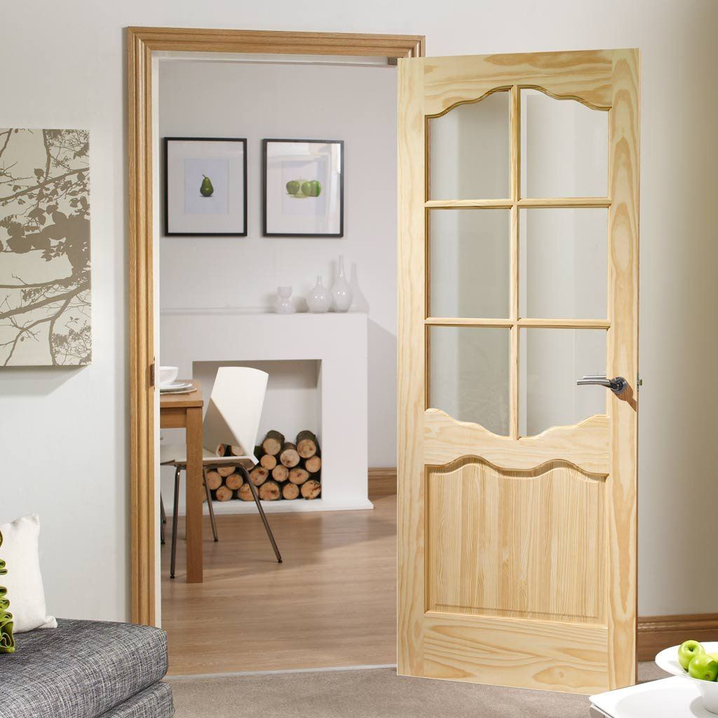 Riviera 6 Pane Clear Pine Door with Clear Safety Glass & Riviera 6 Pane Clear Pine Door with Clear Safety Glass | Clear ... pezcame.com
