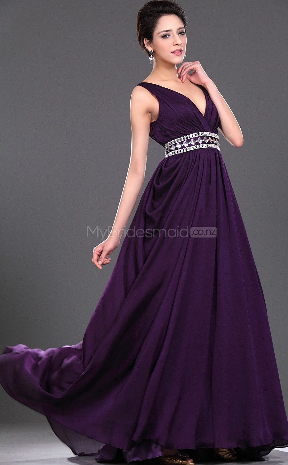 Regency chiffon a line v neck floor length bridesmaid dresses explore purple bridesmaid dresses purple dress and more ombrellifo Image collections