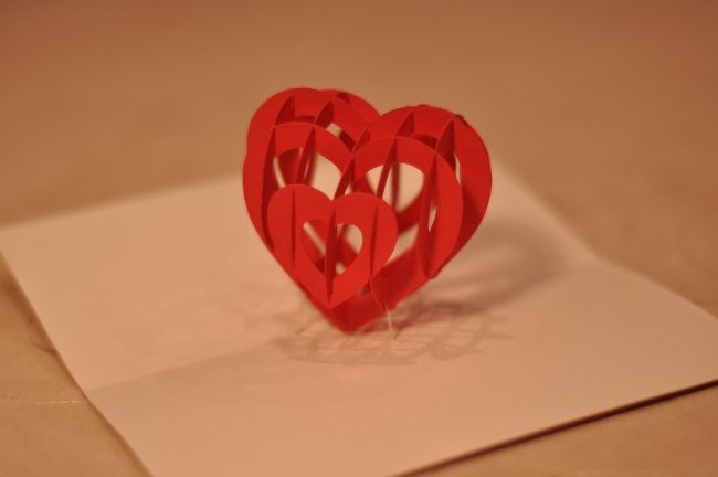 Beautiful Heart Pop Up Card Pop Up Card Templates Pop Up Cards