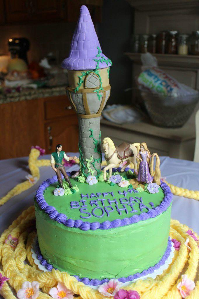 Rapunzel Birthday Cake Wallpaper Kids Birthday Cakes Pinterest