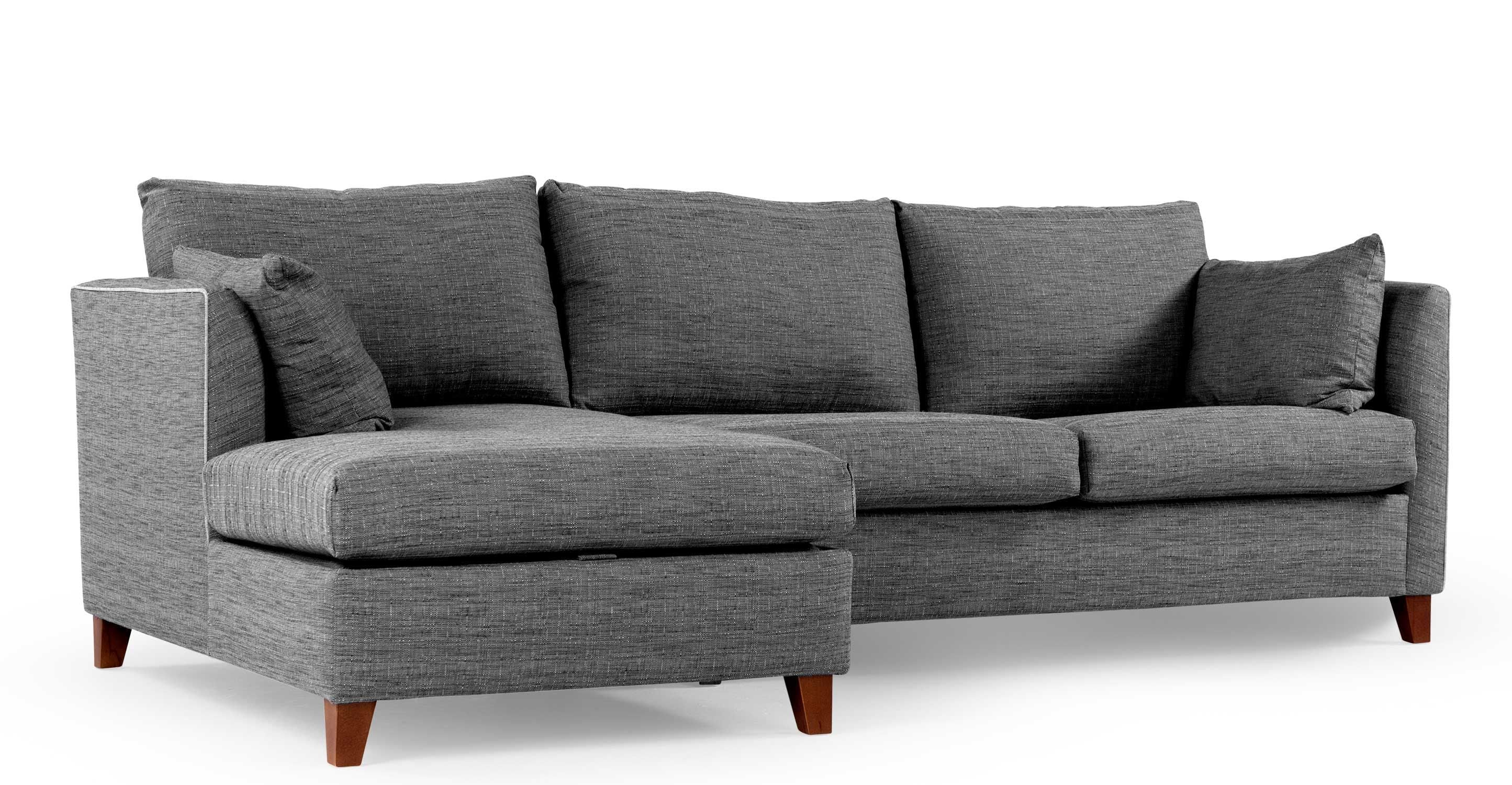 Bari Corner Storage Sofabed Left Hand Facing Malva Graphite Made