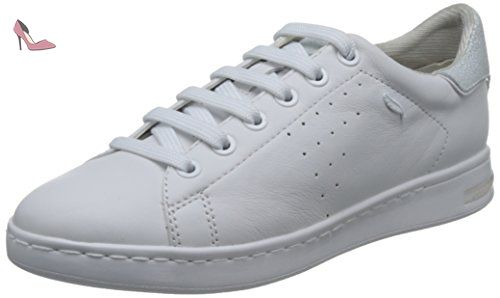 Geox D Happy A, Sneakers Basses Femme, (White), 36 EU