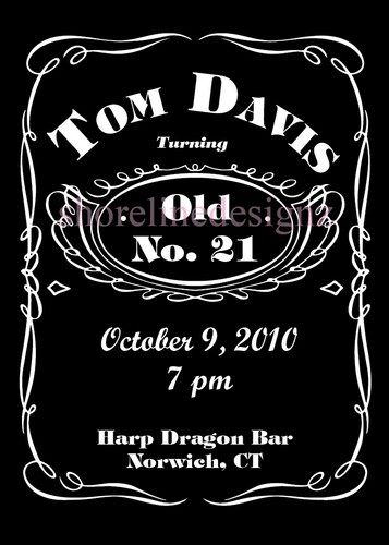 custom jack daniels party invitation i design you print, Invitation templates
