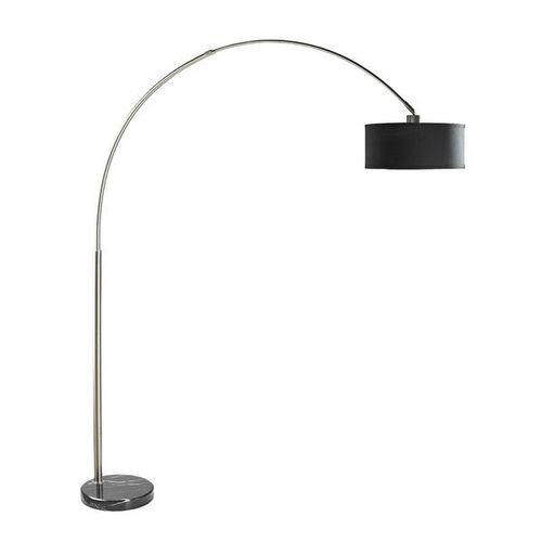 Modern 81-inch Tall Arch Floor Lamp, Black Drum Shade, Marble Base ...
