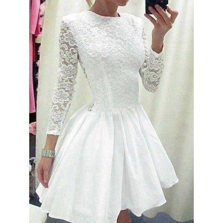 26ef007f84 Bardzo kobieca rozkloszowana sukienka z koronkowa góra. Formalne Sukienki
