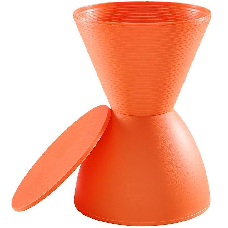 LexMod - Haste Stool in Orange