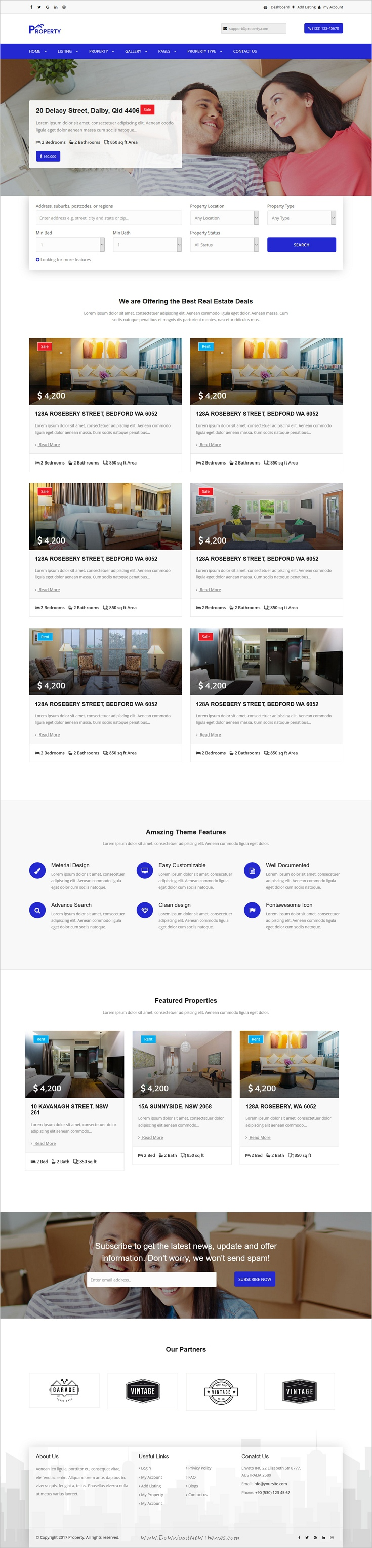 Property is clean and modern design 2in1 responsive HTML5 ...