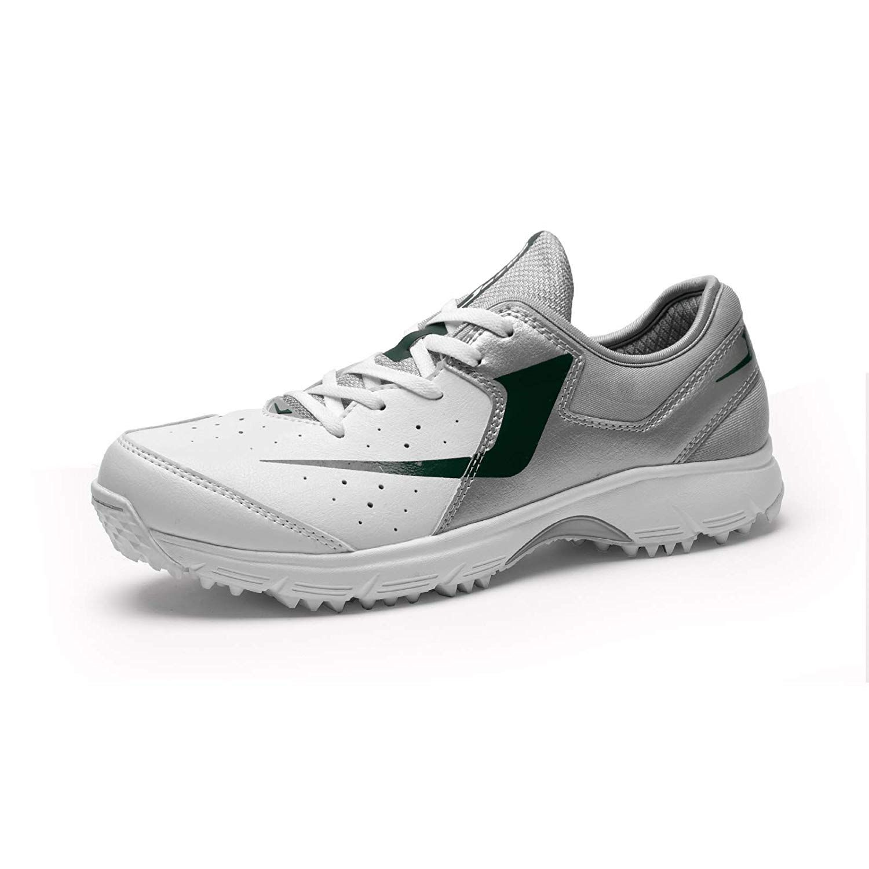 Jazba ZOR Men's Cricket Shoes SilverDark Green | Silver