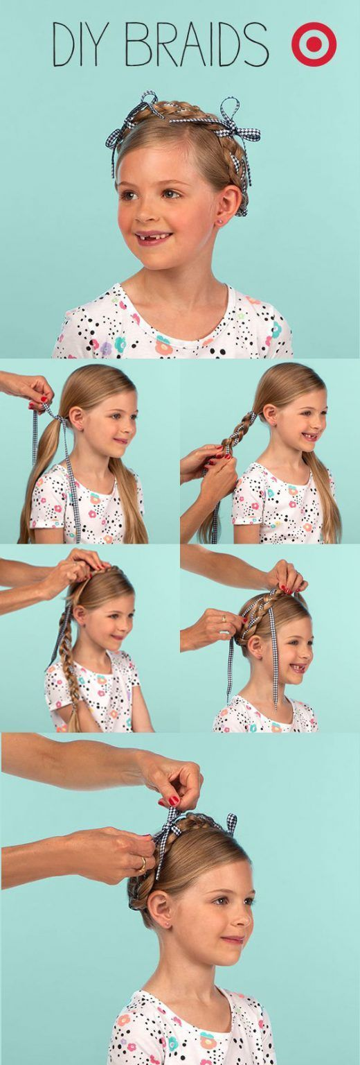 quick and easy braids for kids tutorial included in hair