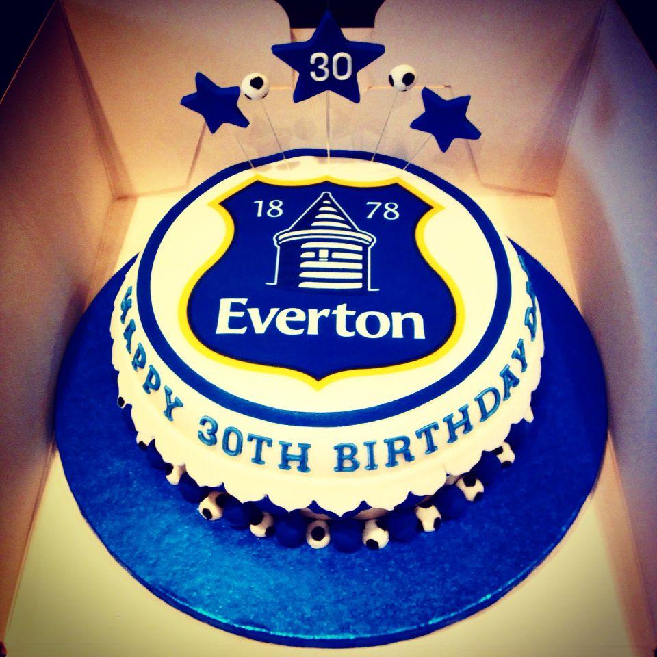 Everton Football Birthday Cakes