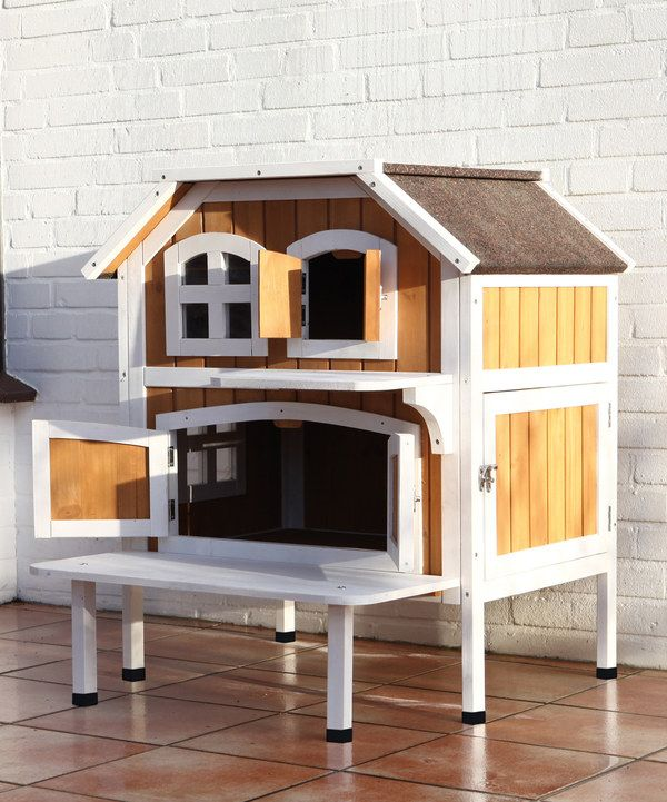 Two Story Cat Cottage Outdoor Cat House Outdoor Cats Cat House