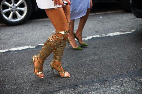 Anna Dello Russo #heels #style #nyfw