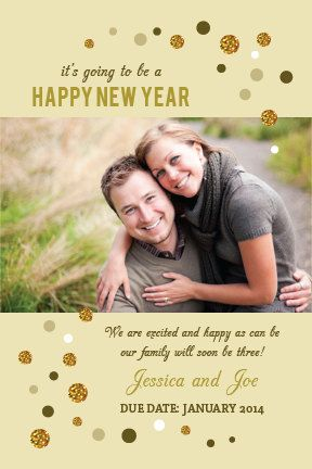 new year baby photo pregnancy announcement by marlenesmarket