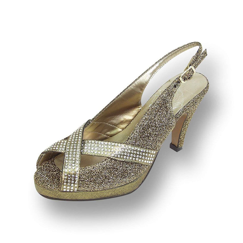 Floral Fic Tiffany Women Wide Width High Heel Slingback Platform