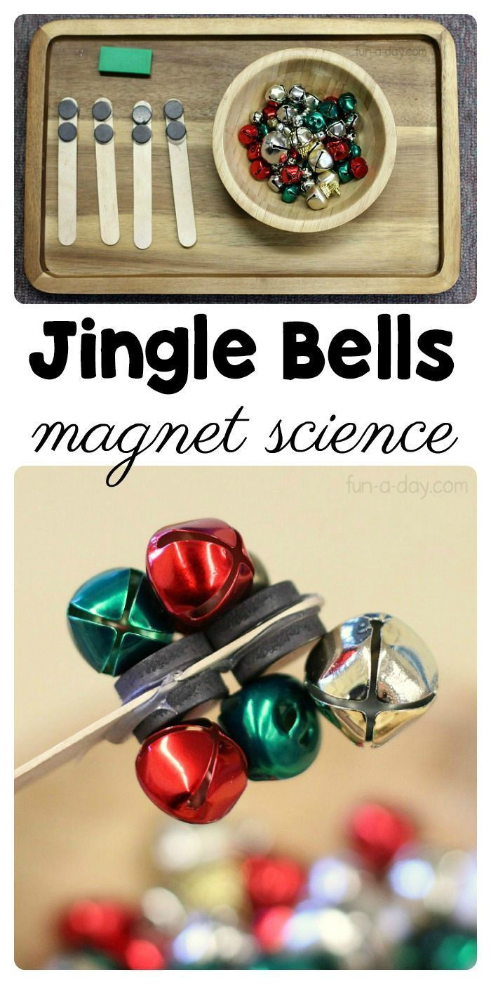 An Easy to Set Up Preschool Magnet Science Activity with Jingle Bells, #activity…