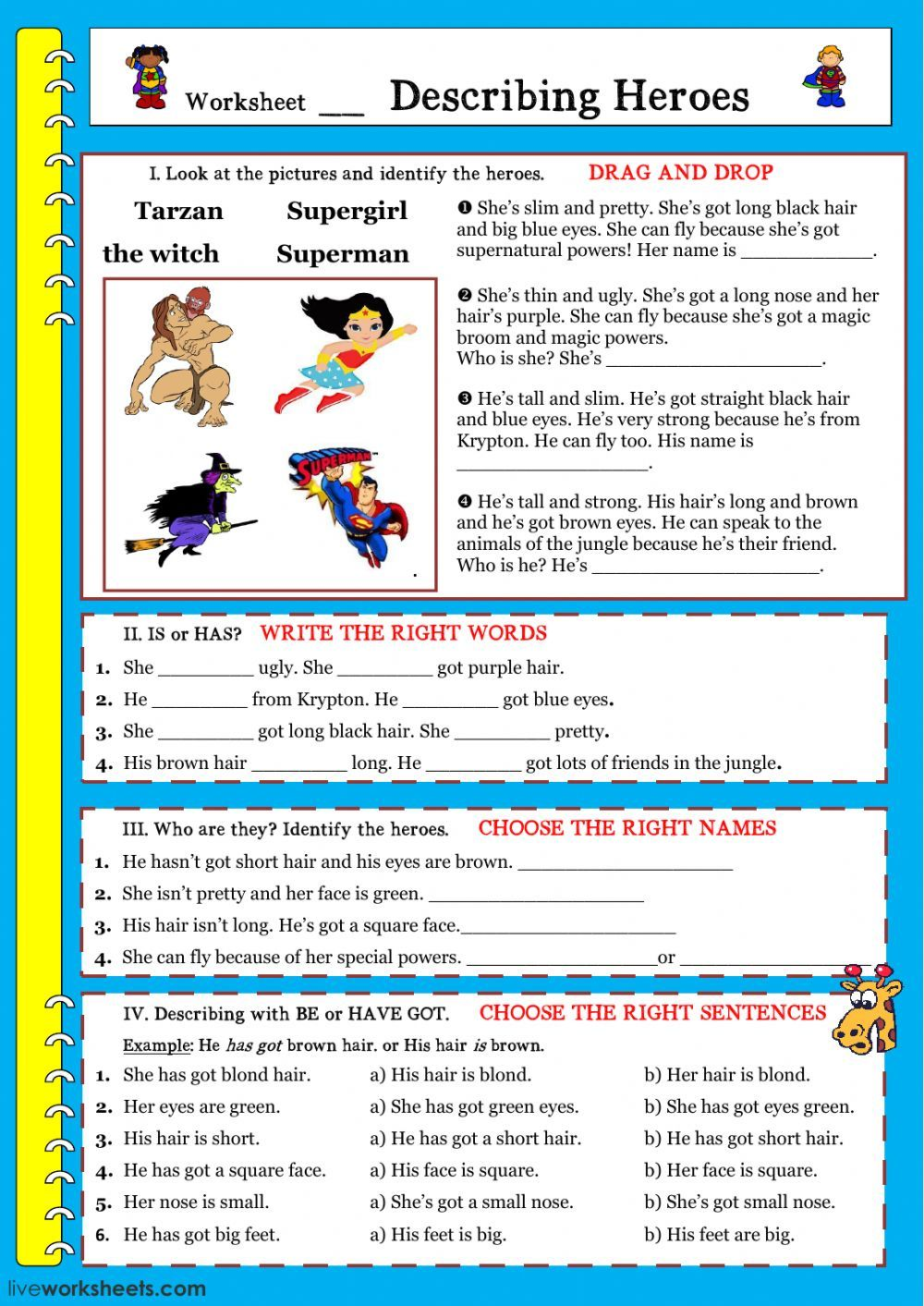 Describing people interactive and downloadable worksheet. You can do ...