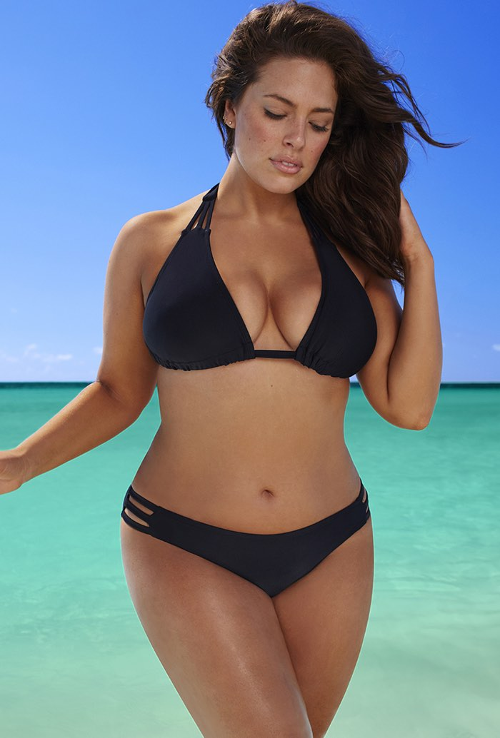 Bikini black swimsuit think