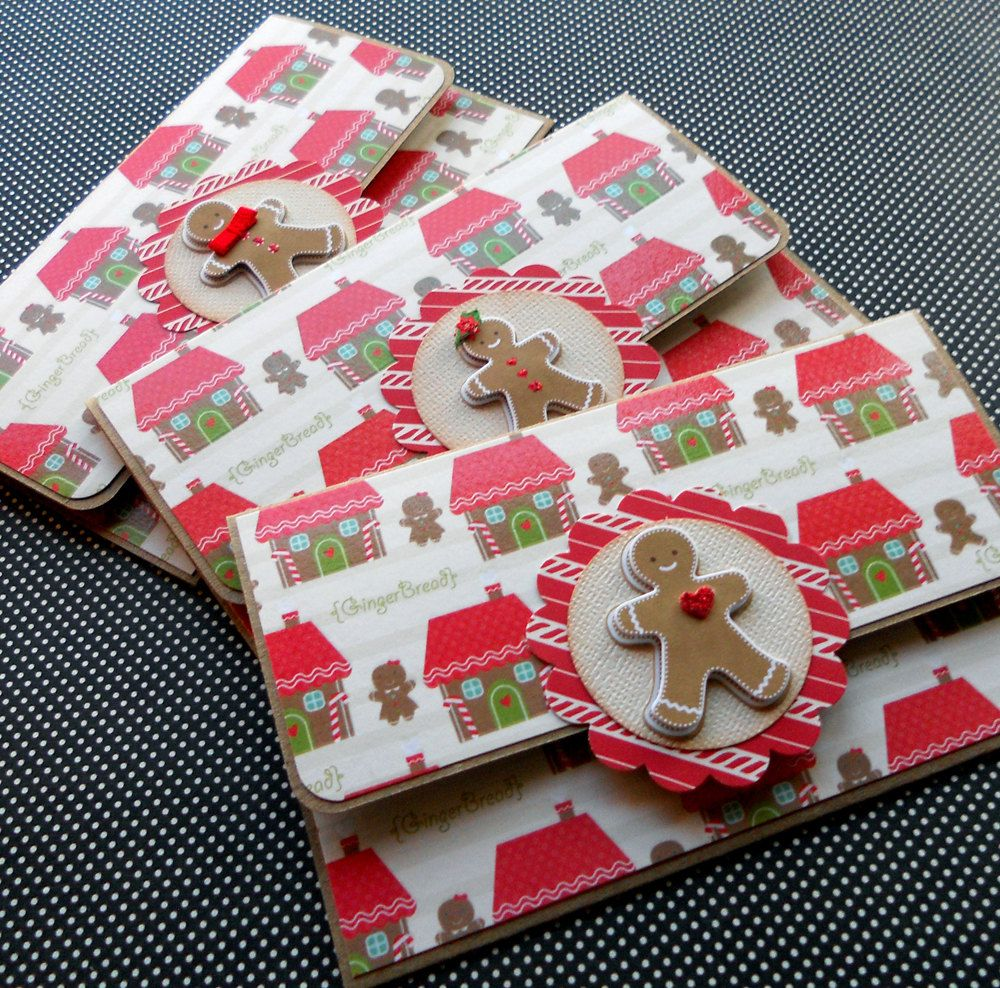 Holiday Giftcard Holders: Set Of 3