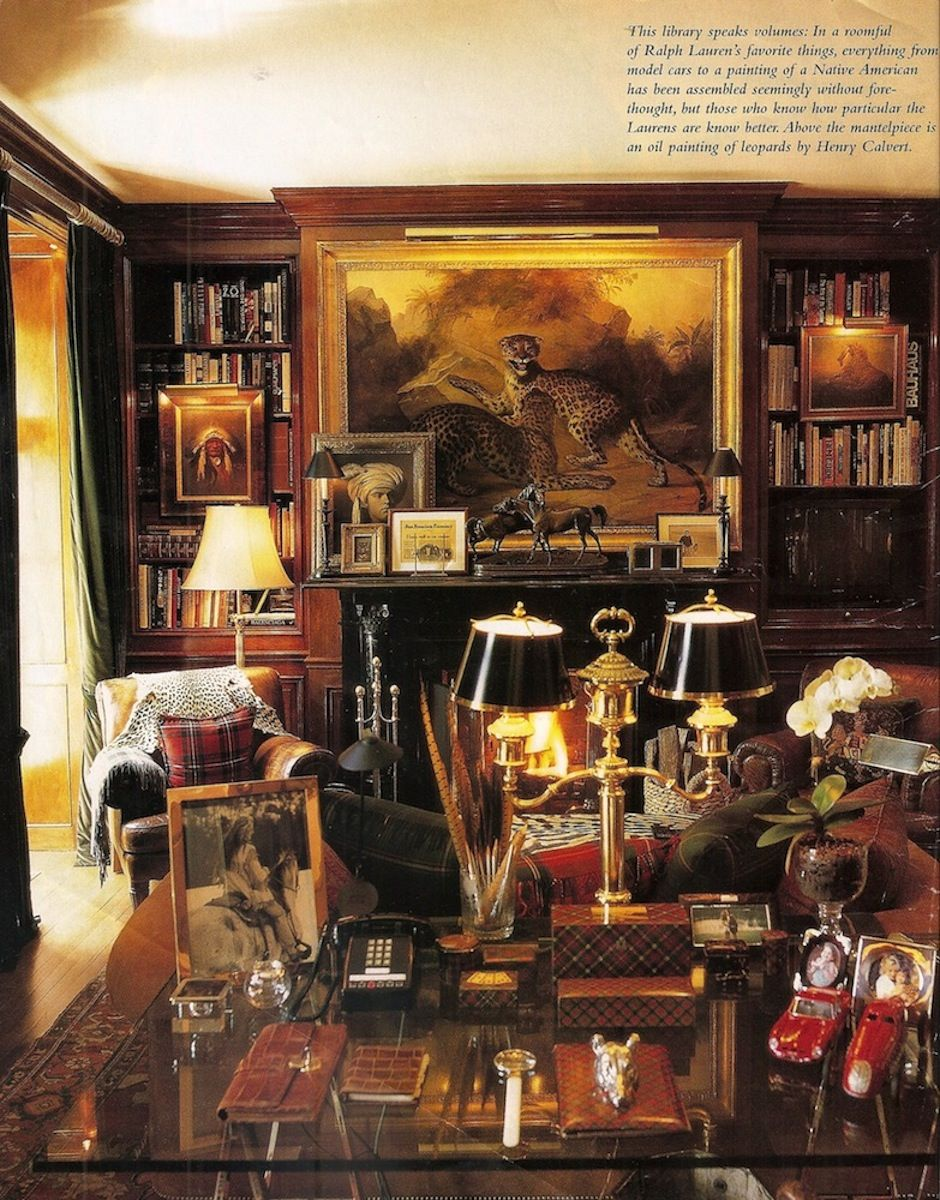 ralph lauren bedford library sometimes ralph lauren gets it right ... - Art Deco Mobel Ralph Lauren Home