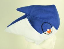 Pokemon hat Greninja Inspired Costume. Cosplay fun for Pokemon lovers. Special Shipping Schedule - Three Weeks. Regular Adult size only available. Greninja is shipped by priority mail only. This is included in the $6.50 shipping cost. For outside the US orders please contact me about shipping first. Not available for Halloween order.
